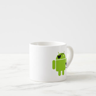 Android Robot Icon as a Pirate Espresso Mug