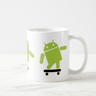 Android Skateboarding Coffee Mug