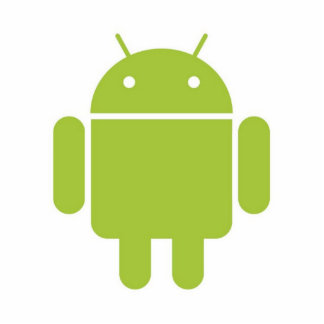 android standing photo sculpture