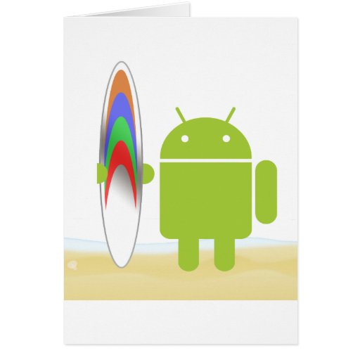 Android Surfer Greeting Card