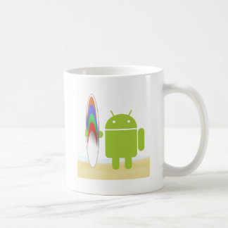 Android Surfer Classic White Coffee Mug