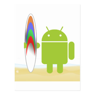 Android Surfer Post Card