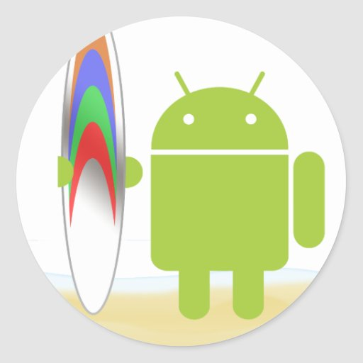 Android Surfer Stickers