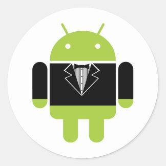 Android Tux Round Sticker
