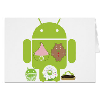 Android Versions Greeting Card