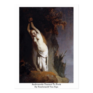 Andromeda Chained To Rock By Rembrandt Van Rijn Postcard