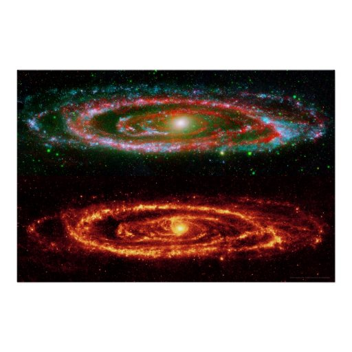 Andromeda Galaxy in Red-UV 36x24 (36x24) Poster