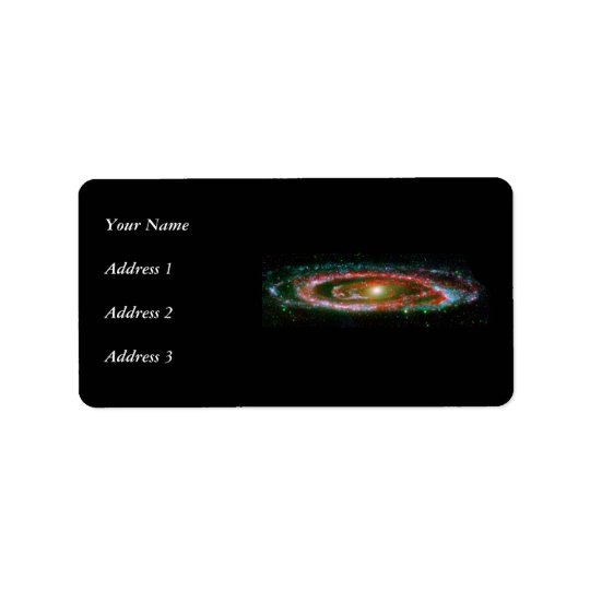 Andromeda Galaxy Label