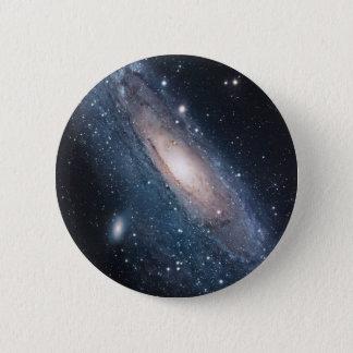 andromeda galaxy milky way cosmos universe 2 inch round button