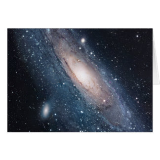 andromeda galaxy milky way cosmos universe card