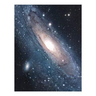 andromeda galaxy milky way cosmos universe letterhead