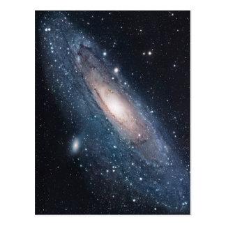 andromeda galaxy milky way cosmos universe postcard