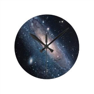 andromeda galaxy milky way cosmos universe round clock