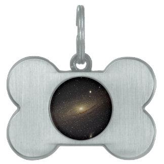 Andromeda Galaxy Pet Tag