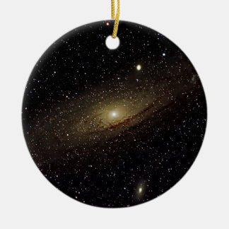 Andromeda Galaxy Round Ceramic Ornament