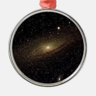 Andromeda Galaxy Silver-Colored Round Ornament