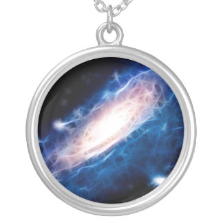 Andromeda Galaxy Silver Plated Necklace