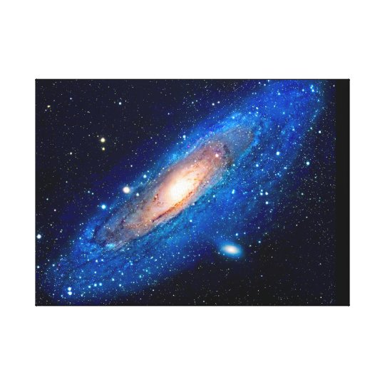 Andromeda Galaxy Wall Canvas Print