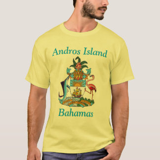 Andros Island, Bahamas with Coat of Arms T-Shirt