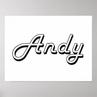 Andy Classic Retro Name Design Poster
