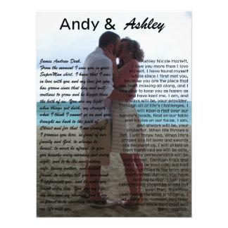 Andy et Ashley, épousant la PIC avec des voeux Photos D'art