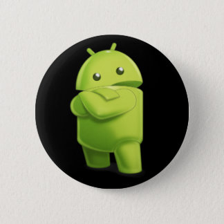 Andy the Android with Attitude Button! 2 Inch Round Button