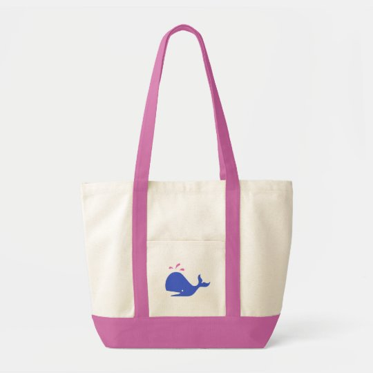 Andy Whale Singletons_blue, pink Tote Bag