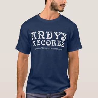 Andys Records white on blue T-Shirt