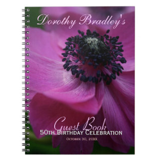 Anemone 50th Birthday Personalized Guest Book