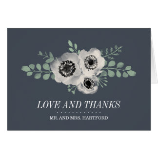 Anemone and Eucalyptus Floral Thank You Card