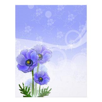 Anemone Blue Linen Stationery