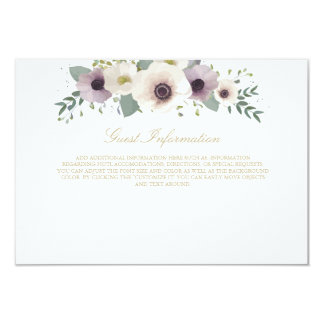 Anemone Bouquet Information Card