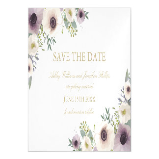 Anemone Bouquet Magnetic Save the Date Magnetic Invitations
