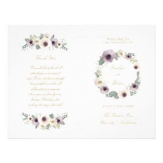Anemone Bouquet - wedding program