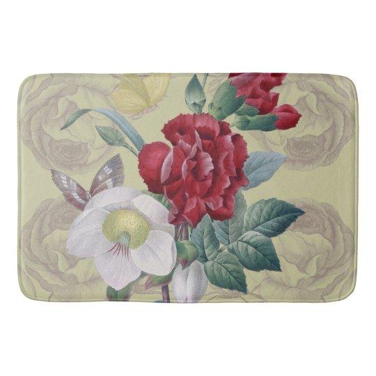 Anemone carnation Roses Bath Mat