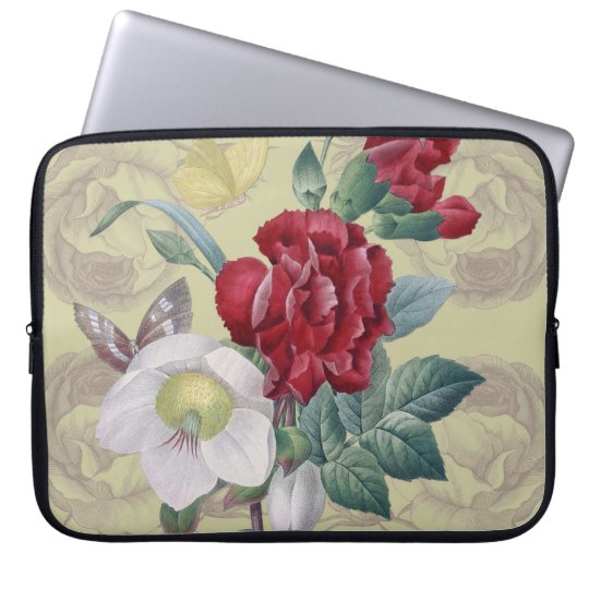 Anemone carnation Roses Computer Sleeves