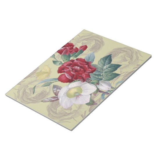 Anemone carnation Roses Notepad