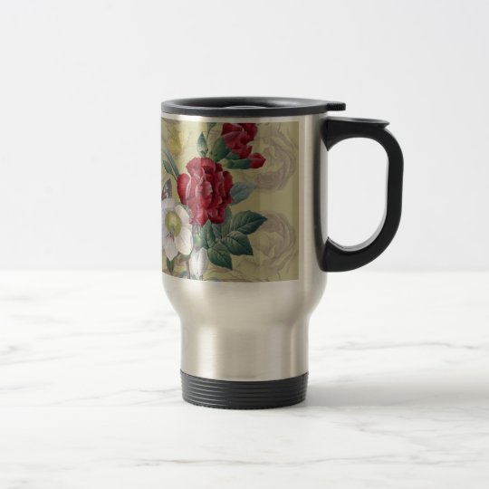 Anemone carnation Roses Travel Mug
