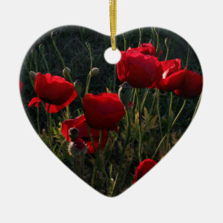 Anemone Ceramic Heart Ornament
