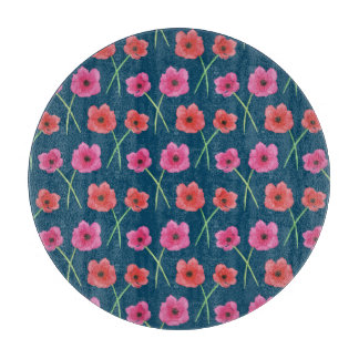 Anemone Flower Watercolor Painting Pattern Boards