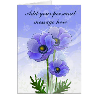 Anemone Flowers Card