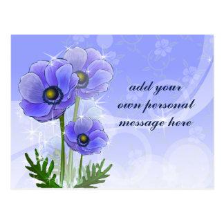 Anemone Flowers Postcard