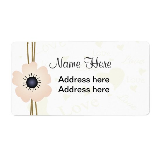 Anemone Shipping Label
