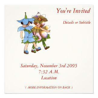 Anemones and Bluets Personalized Invite