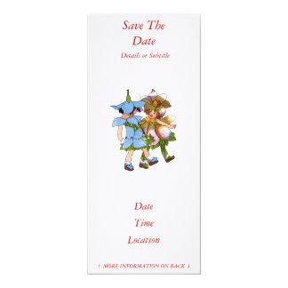 "Anemones and Bluets 4"" X 9.25"" Invitation Card"