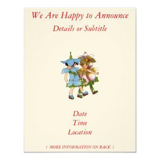 "Anemones and Bluets 4.25"" X 5.5"" Invitation Card"