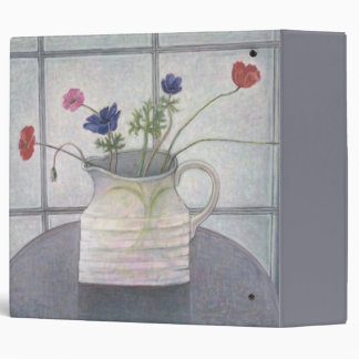 Anemones and Poppies 2008 jug flowers still Vinyl Binders