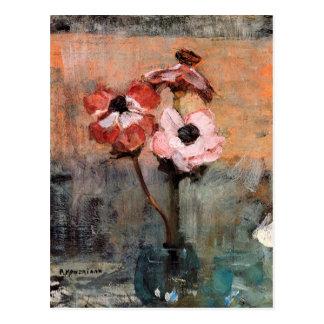 Anemones in a Vase | Piet Mondrian Postcard