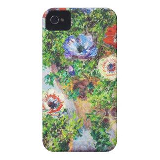 Anemones in Pot Claude Monet flower paint iPhone 4 Case
