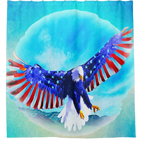 Anerican Eagle Shower Curtain